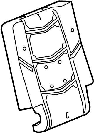 Chevrolet Tahoe Seat Back Cushion. SIDE, BUCKET, MANUAL
