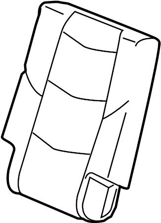 GMC Yukon XL Seat Back Cover. SIDE, BUCKET, MANUAL