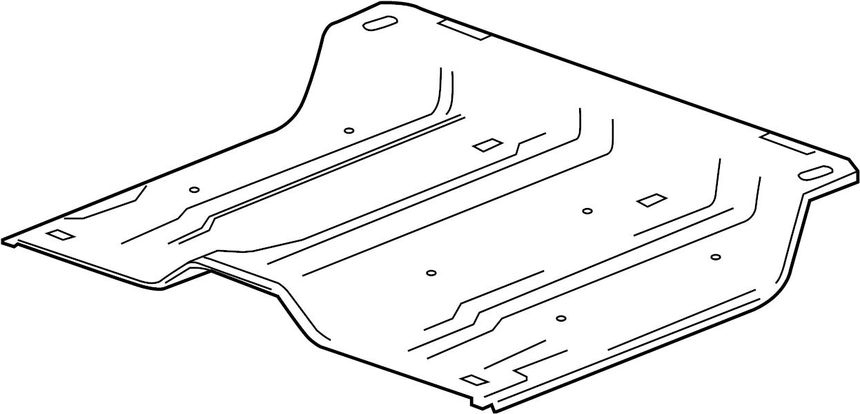 GMC Sierra 2500 HD Reinforcement. REINFORCED. Center floor