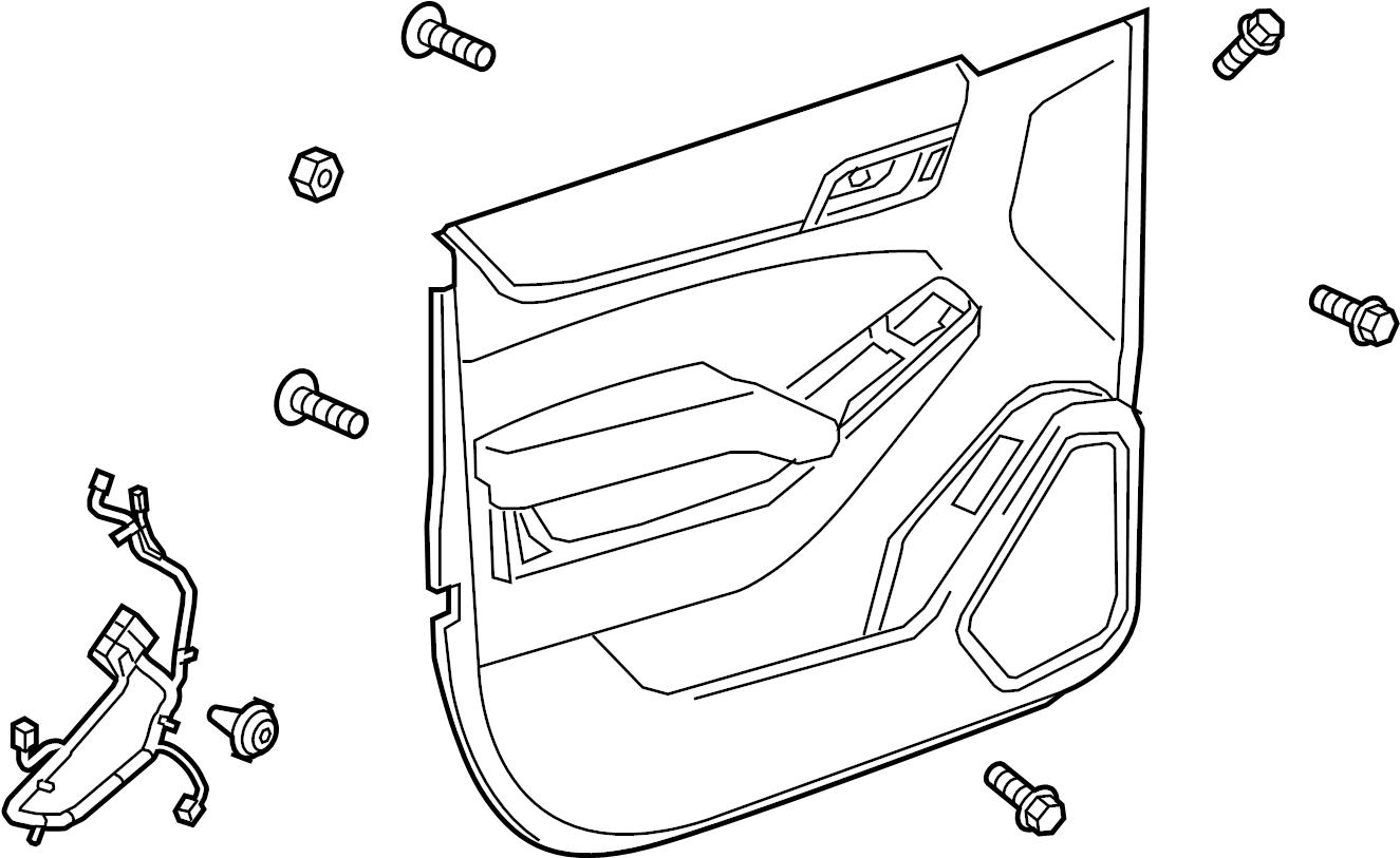Chevrolet Suburban Door Interior Trim Panel. SUBURBAN, 10