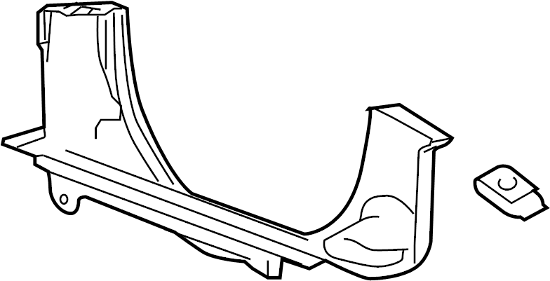 2006 GMC Savana 3500 Engine Cooling Fan Shroud (Lower