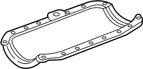 Chevrolet Silverado 1500 Engine Oil Pan Gasket. 2003-14. 4