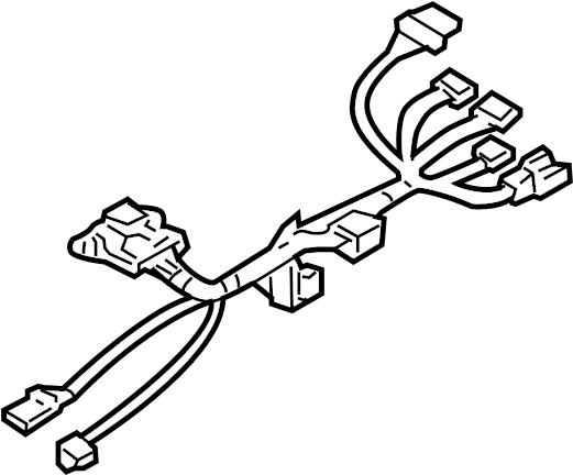 GMC Savana 3500 Steering Column Wiring Harness. W/O TILT