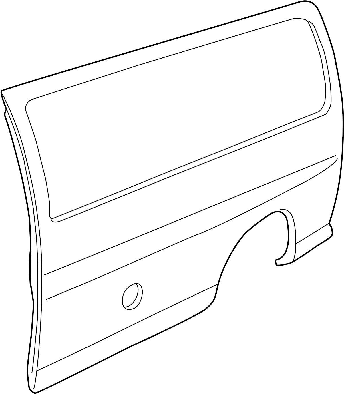 2008 GMC Savana 2500 Quarter Panel (Upper, Lower). Side