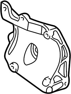 Chevrolet Silverado 3500 Bracket. Compressor. Liter, AIR