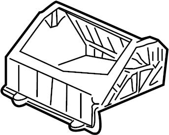 GMC Sierra 1500 Hvac air inlet housing. Front, cntrl, temp