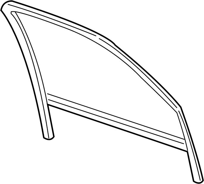 GMC Yukon XL 2500 Window Channel. FRONT, GLASS, Left