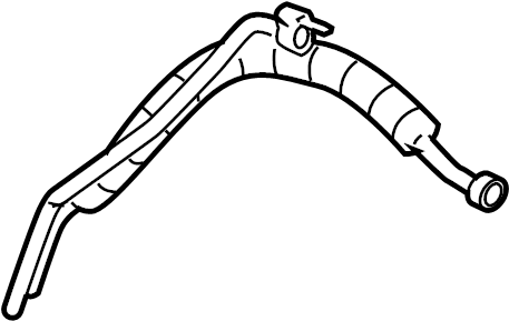 2008 Chevrolet Tahoe Hose. Tube. (Rear). Auxiliary