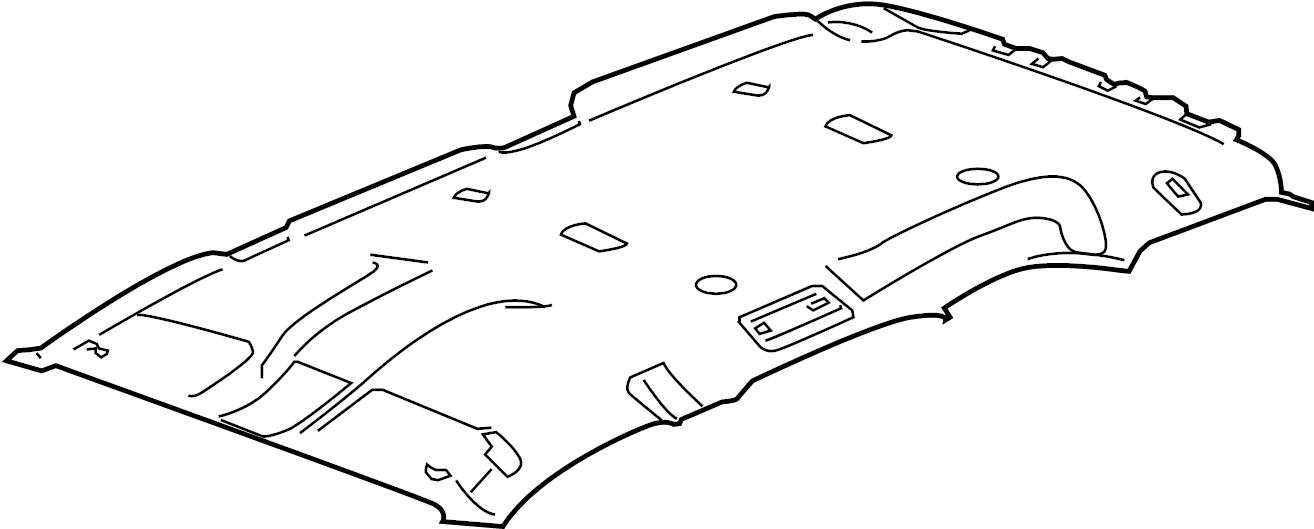 GMC Yukon Headliner. W/o sunroof, w/head air bags, cocoa