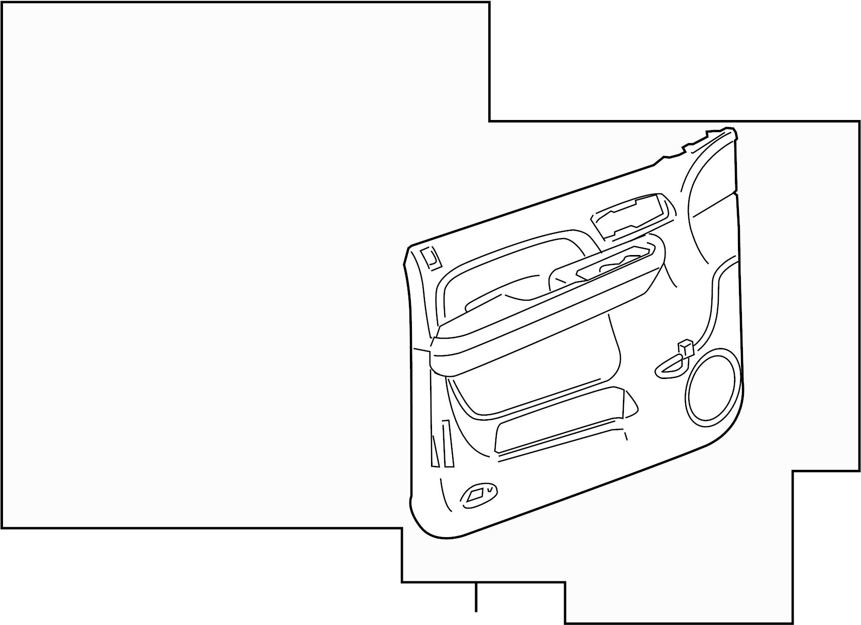 Gmc Sierra Door Interior Trim Panel Titanium