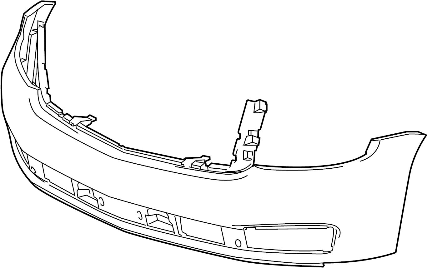 Chevrolet Suburban Cover Cap Bumper Side Reinforced Fascia Inner Rocker Upper
