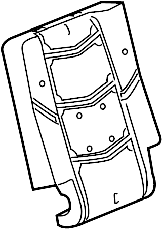 Cadillac Escalade Seat Back Cushion. SPLIT, SIDE, BENCH