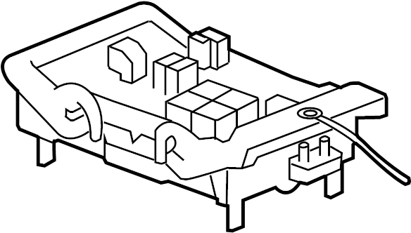 Chevrolet Suburban 1500 Junction Block. COMPARTMENT
