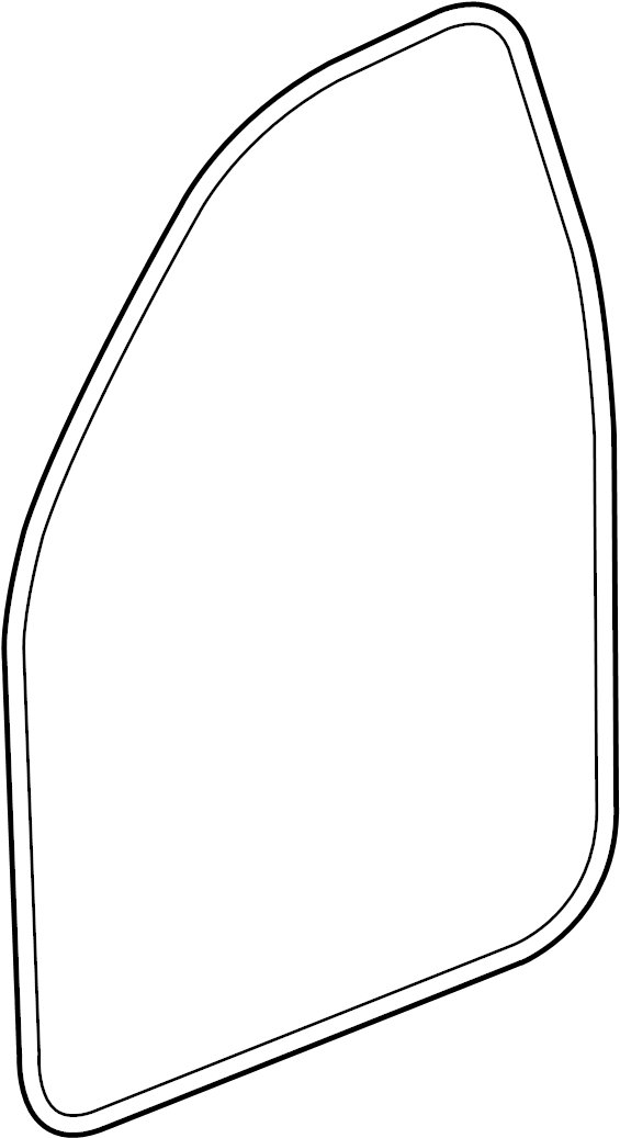 Cadillac Escalade Door Seal (Front, Upper, Lower). Left