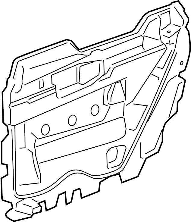 2008 Chevrolet Tahoe Door Water Deflector (Front). PACKAGE