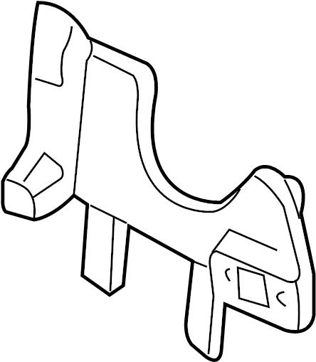 Chevrolet S10 Headlight Bracket. 1998-2005, COMPOSITE