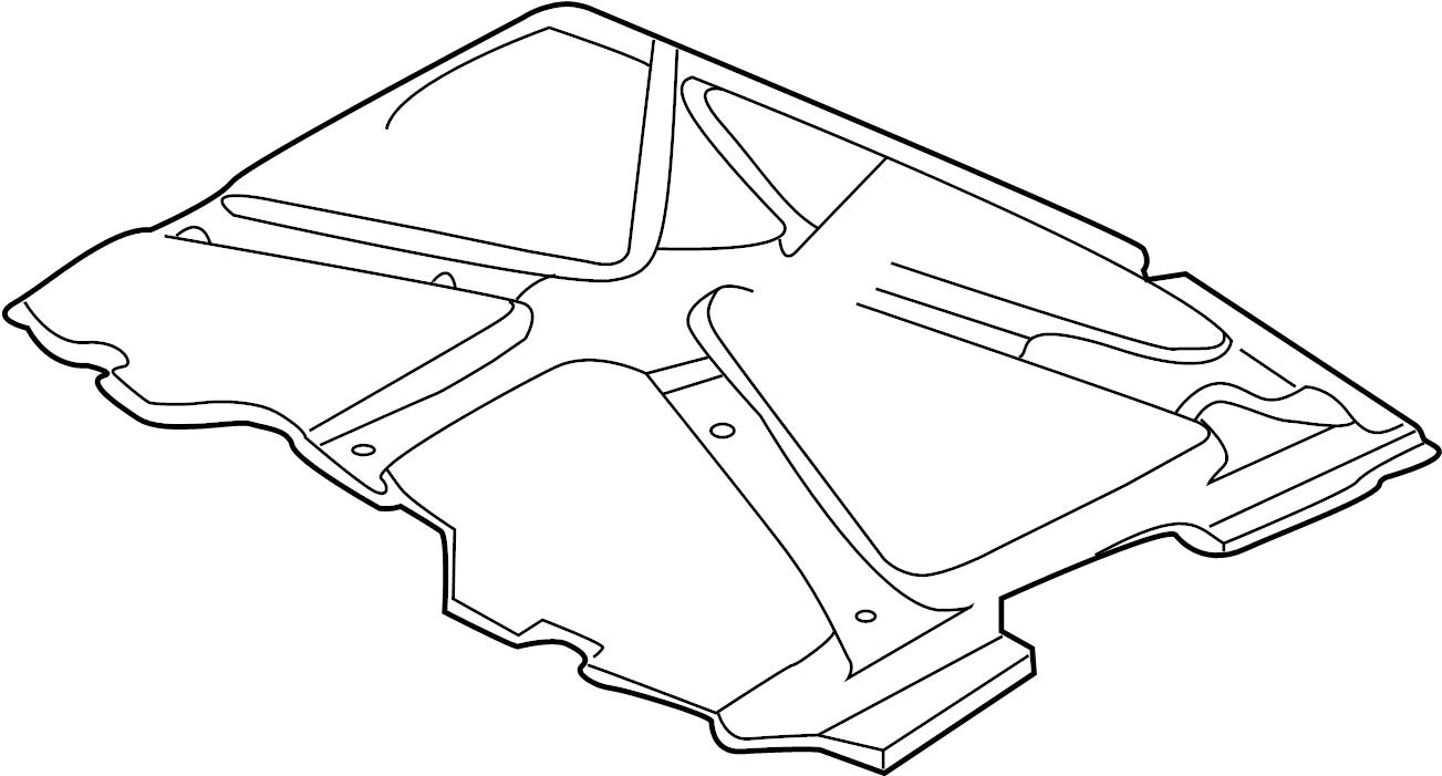 1999 GMC Hood Insulation Pad. Hood Insulation Pad