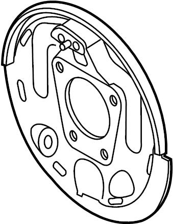 GMC Sonoma Plate. Shield. Brake. Backing. DRUM BRAKES, 4WD