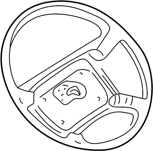 2000 Oldsmobile Bravada Steering wheel. Series, Leather