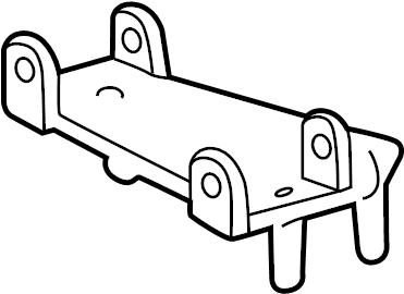 2005 Chevrolet Blazer Engine Oil Filter Adapter Bracket