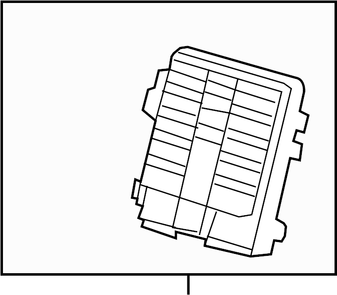 Chevrolet Silverado 1500 Fuse Box. Junction Block. A