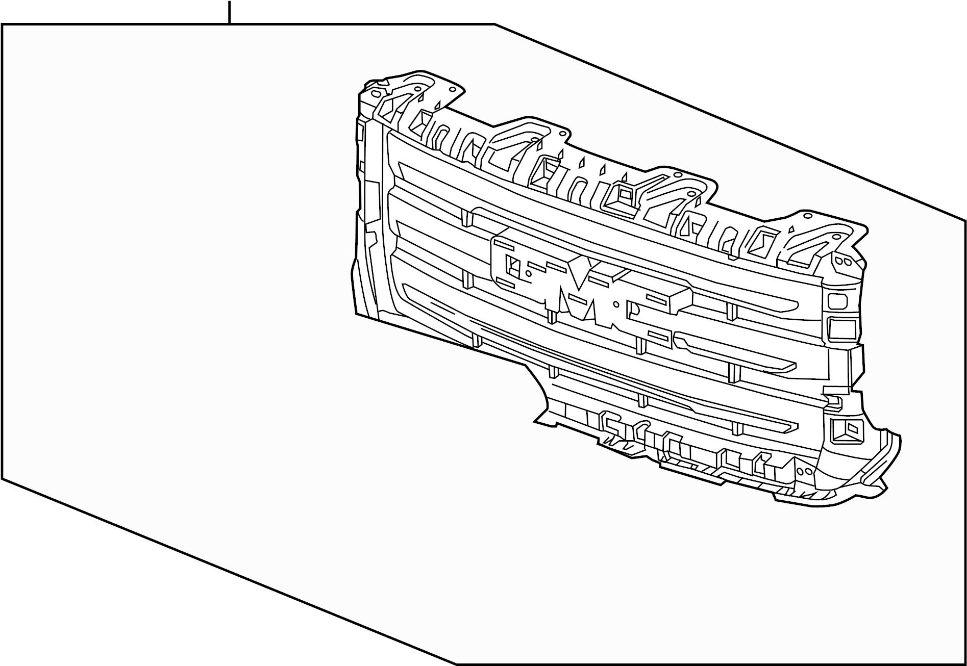 Gmc Sierra Slt 5 3l Flex V8 Automatic Grille