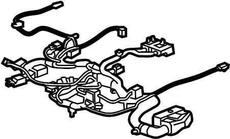 GMC Sierra 1500 Power Seat Wiring Harness. BENCH, SPLIT
