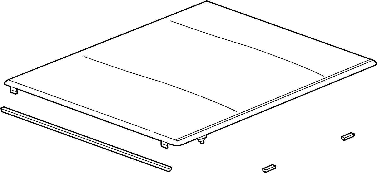 GMC Sierra 1500 Cover package. Tonneau cover. 6.6 ft box