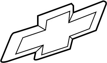 Chevrolet Silverado 1500 Tailgate Emblem. BOX, BOWTIE
