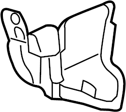 2015 Chevrolet Radiator Support Splash Shield (Front