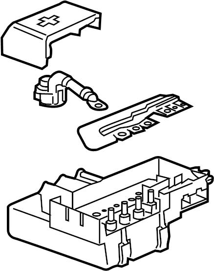 GMC Sierra 2500 HD Distribution box. Junction Block