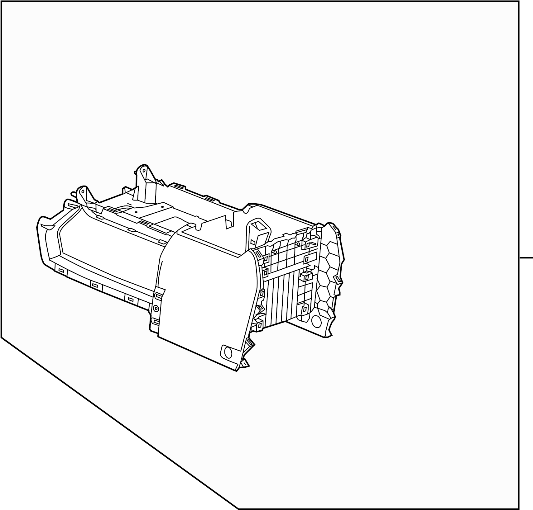 GMC Sierra 1500 Console ASSEMBLY. Rear, DVD, Denali