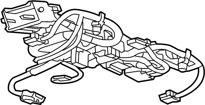 GMC Sierra 2500 HD Console Wiring Harness. Rear, Pwr