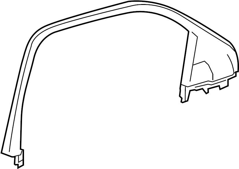 GMC Sierra 1500 Door Window Molding (Upper). REGULAR CAB