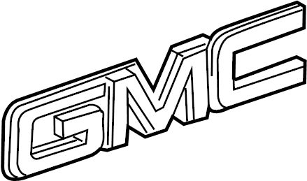 Chevrolet Silverado 2500 HD Tailgate Emblem. BOX, Rear