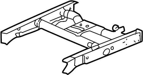 GMC Sierra 2500 HD Frame Rail (Rear). 2WD, 8 foot bed. 4WD