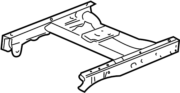 GMC Sierra 1500 Frame Rail (Rear). TON, Bed, Cab