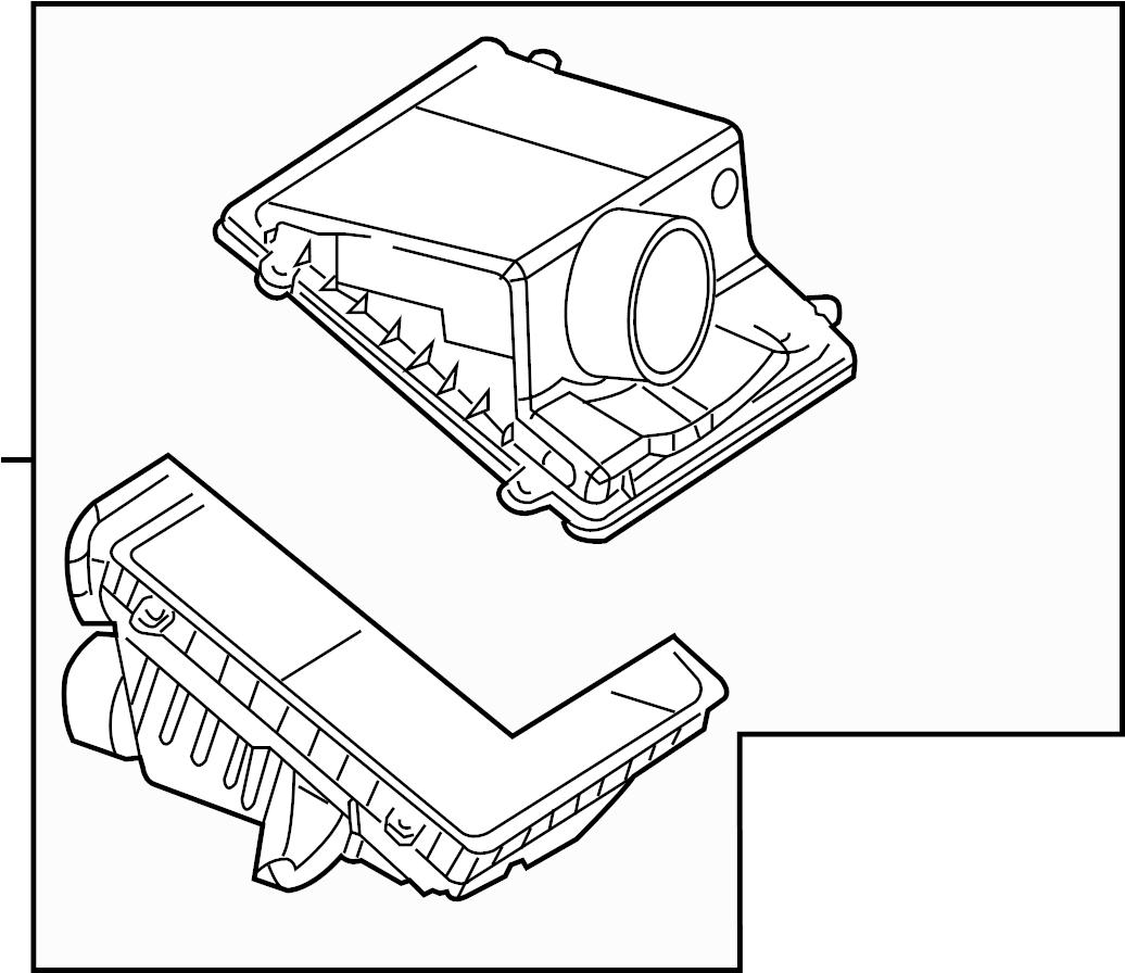 2005 Chevrolet Air. Cleaner. Housing. Filter. Liter, GAS