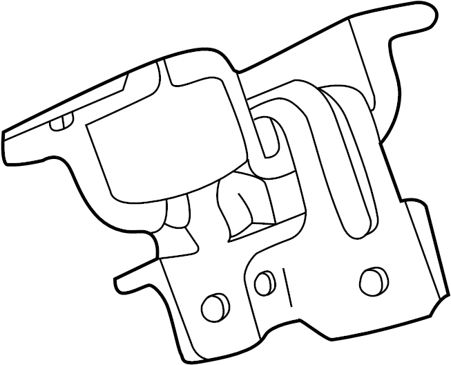 Chevrolet Silverado 3500 HD Engine Mount. Right, DIESEL
