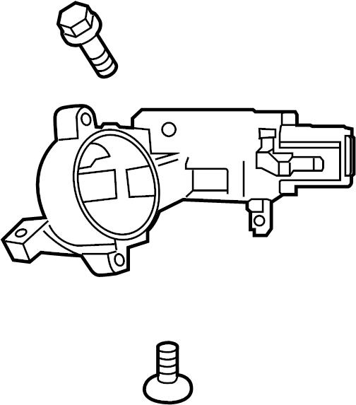 Chevrolet Trax Ignition Lock Housing. 2015-16, w/o code