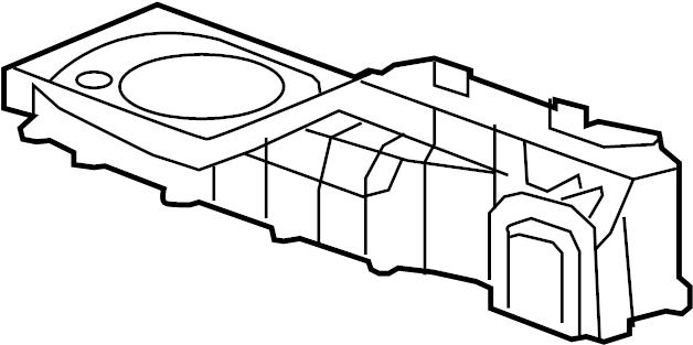 Buick Enclave Hvac blower motor housing. Front w/auto temp