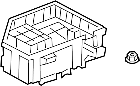 Chevrolet Traverse Fuse Box. W/tow pkg. Telematics, Motors