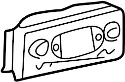 Oldsmobile Bravada Hvac temperature control panel. Rear