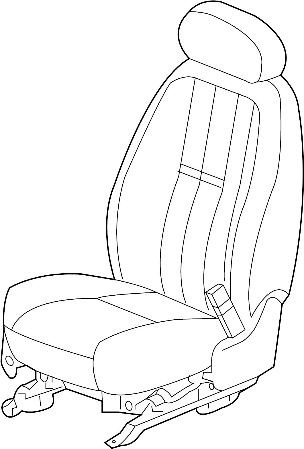 GMC Yukon DENALI Seat Track. POWER, LUMBAR, Driver