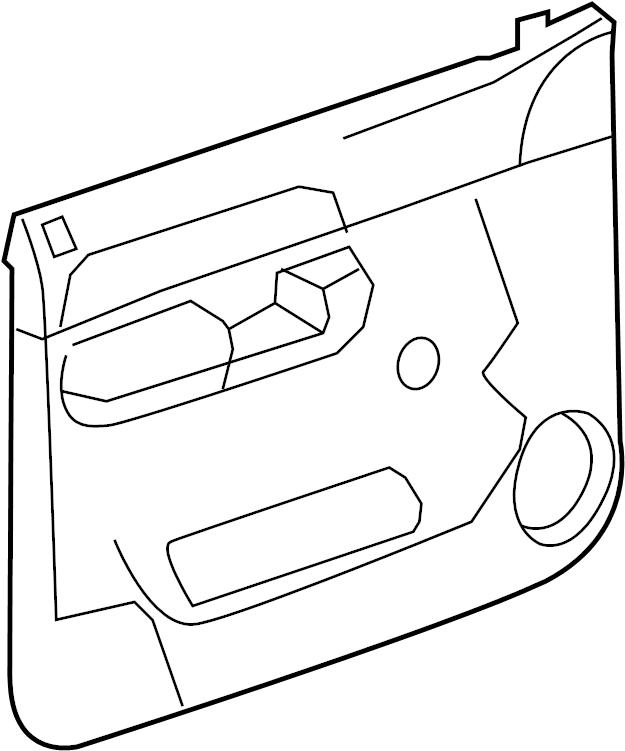 GMC Sierra 2500 HD Door Interior Trim Panel. Ebony. W/O