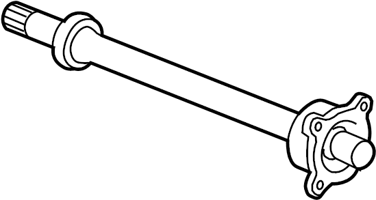 GMC Acadia SLE Cv intermediate shaft (front). Axle, left