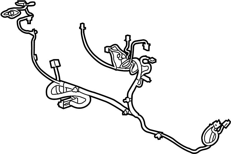 GMC Terrain Console Wiring Harness. 3.6 liter, w/rear DVD