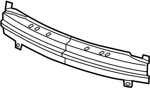 2001 Saturn L300 Bumper Impact Bar (Front, Lower). 2000-02