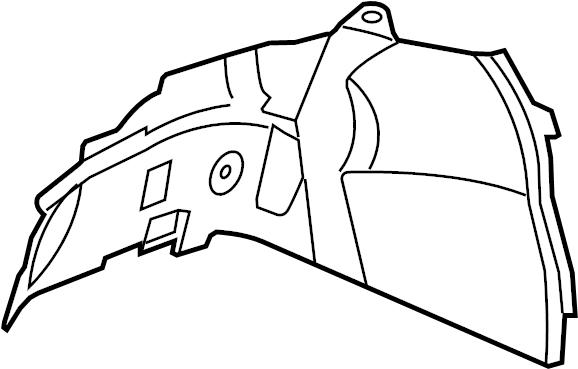 2010 Chevrolet Fender Splash Shield (Front, Lower). Right