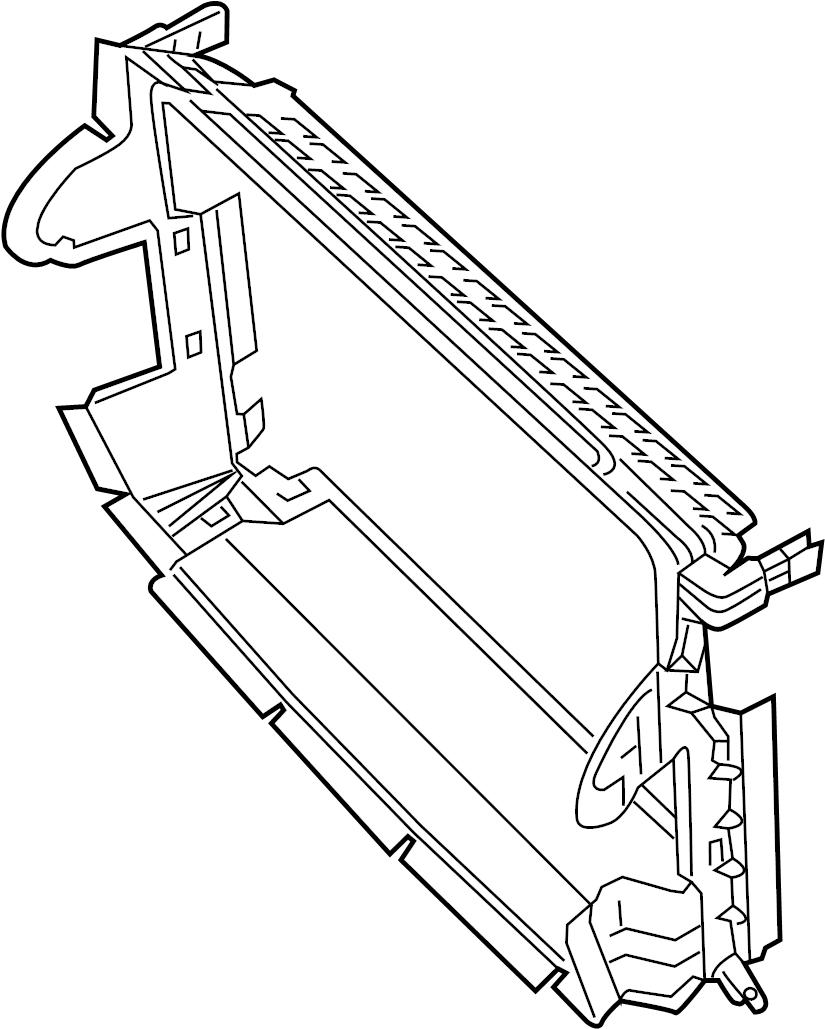 Chevrolet Cruze Baffle. RADIATOR, MOUNTING, Upper